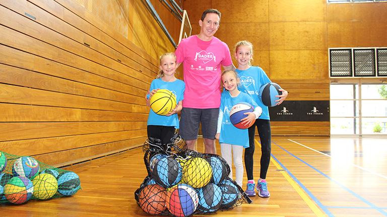 Professor Phil Morgan and his daughters
