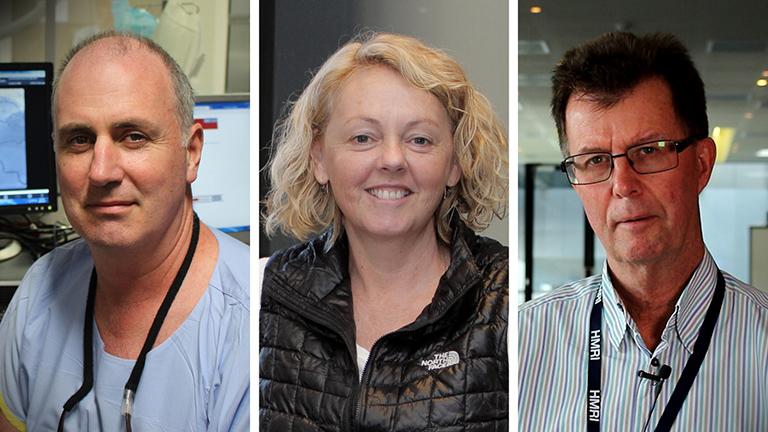 Professor Andrew Boyle, Dr Kym Rae and Professor John Wiggers