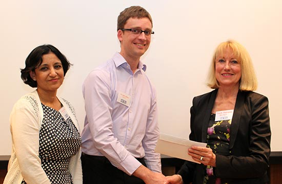 Dr Rani Bhatia and Dr Adam Collison with HCRF Chair Janelle Shakespeare