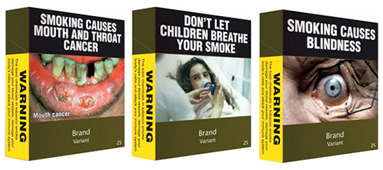 Plain packets work to change smokers' minds