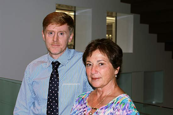 Professor Mark Parsons and his former patient Sylvia Ryan.