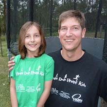 Andrew Speechly participated in the Healthy Dads Healthy Kids program with his daughter Isabella and lost 10 kilograms.
