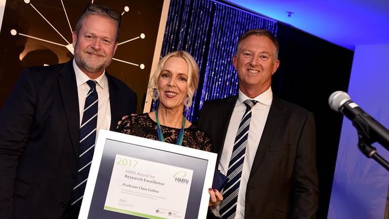 Professor Clare Collins receives HMRI Research Award for Excellence