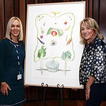 Professor Clare Collins and Leda Turner