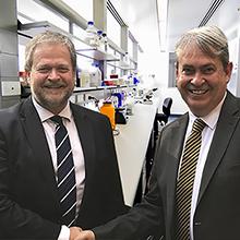 Professor Michael Nilsson and His Excellency Mr Par Ahlberger, Ambassador of Sweden
