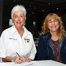 Mrs Carole Powell and Associate Professor Sally McFadden
