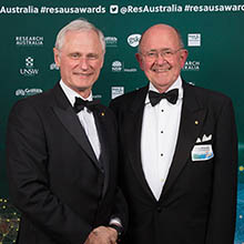 Laureate Professor Nick Talley with Peter Wills