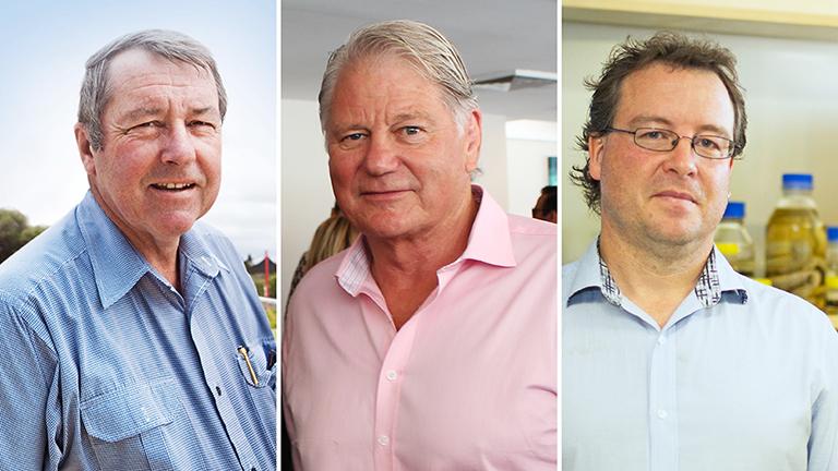 Bob Kennedy, Glenn Turner and Geoff Isbister
