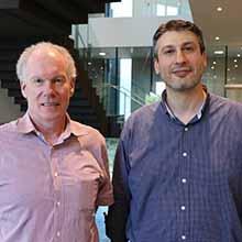 Laureate Professor Rodney Scott and Associate Professor Saad Ramadan