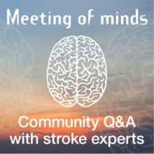 Meeting of Minds: Online Stroke Q&A with Professor Chris Levi, Professor Coralie English and Meredith Burke