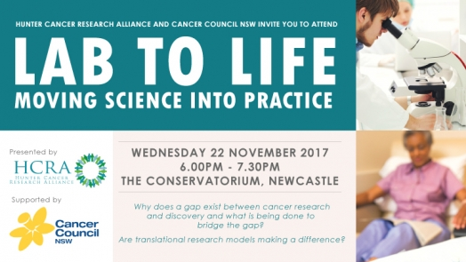 Public Lecture: Lab to Life - Moving Science into Practice