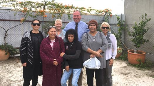 The Hon Barnaby Joyce with staff from Gomeroi gaaynggal