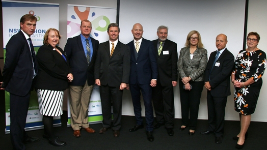 Dr David Gillespie, fourth from left, with Centre partners
