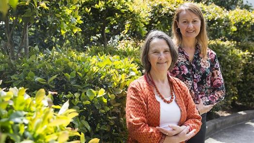 Associate Professor Gillian Gould, left, and Professor Billie Bonevski