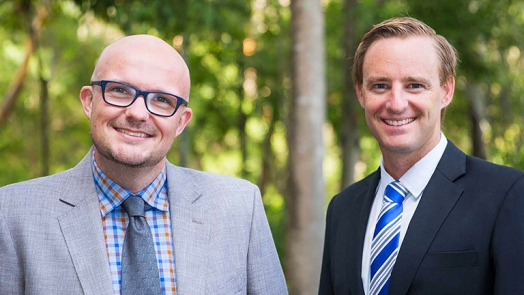 Associate Professor Jed Duff and Dr Andrew Gardner