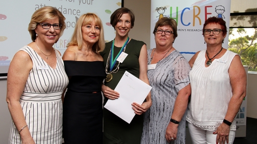 Dr Megan Jensen with HCRF committee members