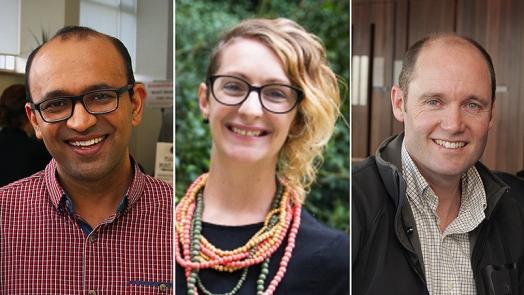 Pradeep Tanwar, Michelle Bovill and Brett Nixon
