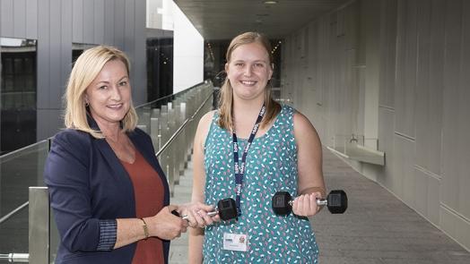 Professor Lisa Wood and Isobel Stoodley